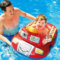 Надувной детский плавательный круг INTEX 59586NP пожарная машина 74 см х 58 см