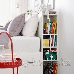 БРИМНЭС Изголовье с полкой, белый,  размеры:140см,160 см, 180см, фото 2