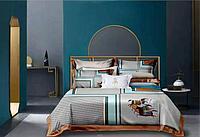 Комплект постельного белья двуспальный HERMES сатин LUX с абстракцией