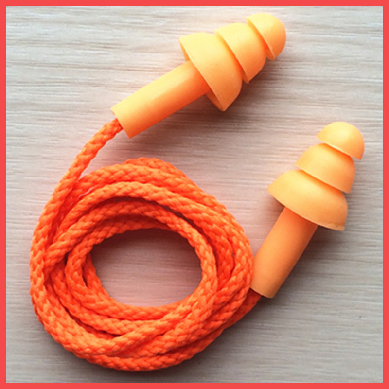 Беруши многоразовые (елочка) со шнурком