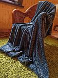 Плед под барашка с косичкой полутораспальный, фото 2