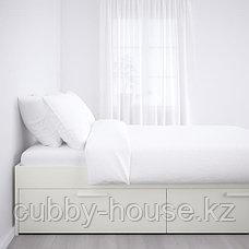 БРИМНЭС Каркас кровати с ящиками, белый, Лурой, 160x200 см, фото 3