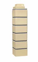 Угол наружный Жёлтый 485х119х119 мм  Кирпич клинкерный ДАЧНЫЙ FINEBER
