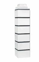 Угол наружный Белый 485х119х119 мм  Кирпич клинкерный ДАЧНЫЙ FINEBER