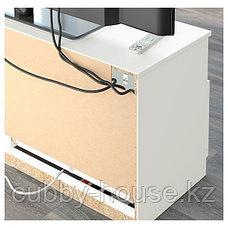 БРИМНЭС Шкаф для ТВ, комбинация, (белый, чёрный) 180x41x190 см, фото 3