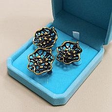 Комплект серьги и кольцо / покрытие золото 18К