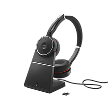 Jabra 7599-832-199 Гарнитура Evolve 75 Stereo MS Charging stand & Link 370