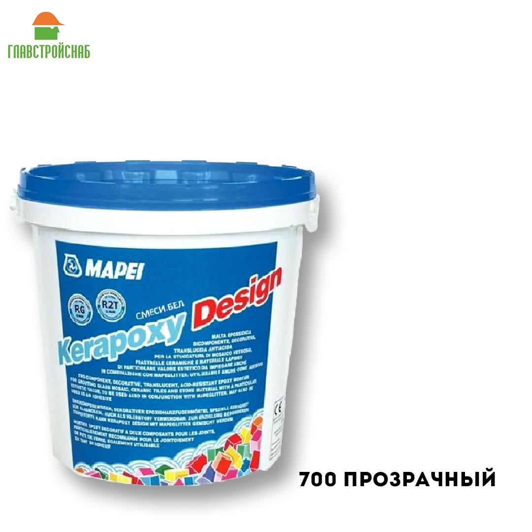 KERAPOXY DESIGN №700 (Прозр) 3 КГ. двухкомп. декоративный кислостойкий эпоксидный шовный заполнитель