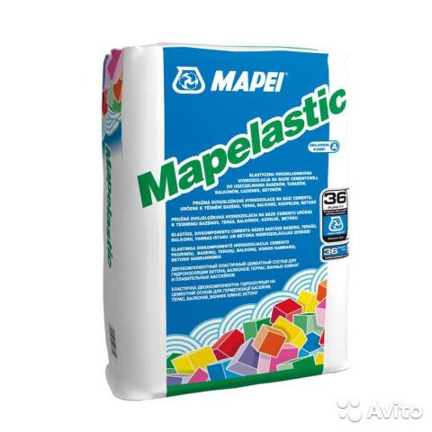 MAPELASTIC / A сухая часть двухкомпонентной эластичной гидроизоляции 24 кг. РОССИЯ