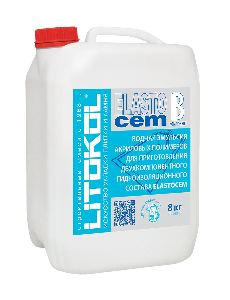 ELASTOcem В -добавка к гидроизоляции (8kg can)