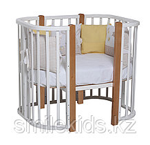 Кроватка детская Tomix Mio, белый, стойки бук