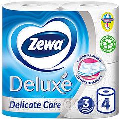 "Бумага туалетная Zewa ""Deluxe"" 3-слойная, 4шт., тиснение, белая"
