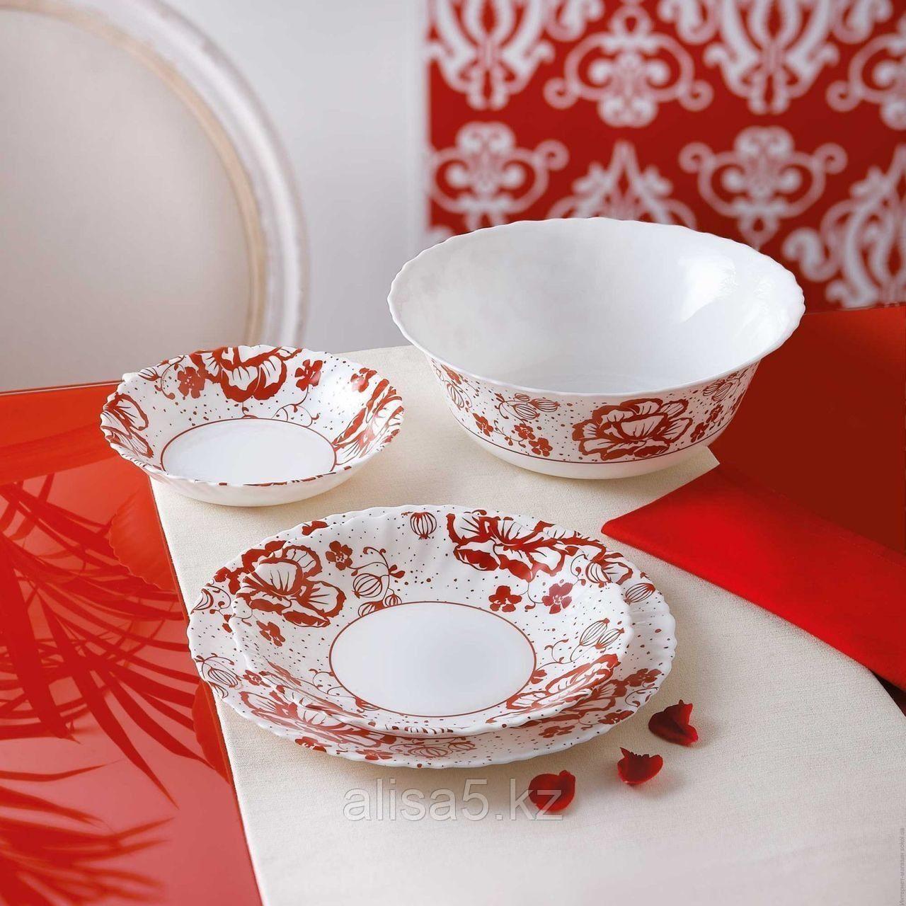 ROMANCIA RED столовый сервиз на 6 персон из 19 предметов, шт