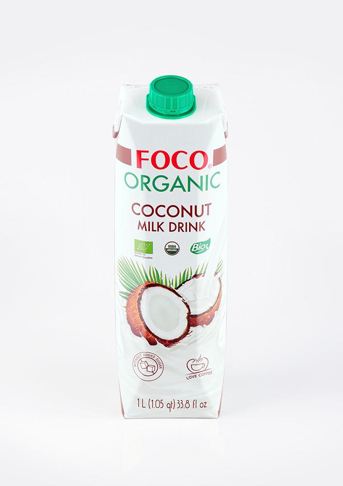 FOCO ORGANIC Кокосовый молочный напиток (без сахара),1 литр