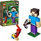 LEGO Minecraft: Стив с попугаем 21148, фото 3