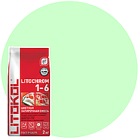 LITOCHROM 1-6 C.100 св.-зеленая-затир. смесь (2kg Al.bag) 8 шт, фото 1