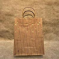 Бумажный подарочный крафт-пакет (24,5/31/10,5см)