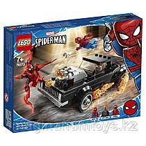 Lego Супер Герои Конструктор Человек-Паук и Призрачный Гонщик против Карнажа 76173