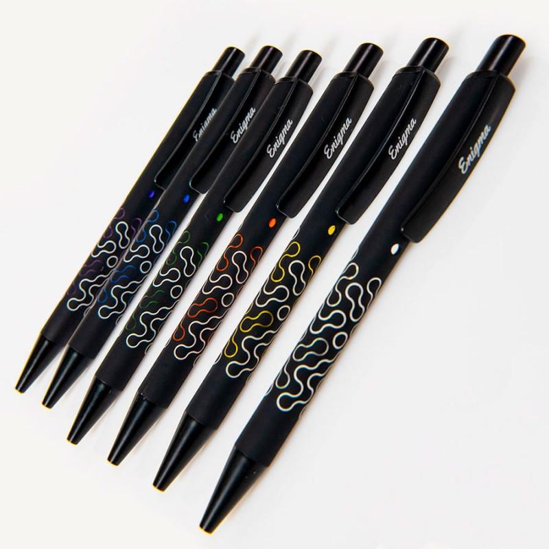Ручка шариковая ENIGMA, металл, софт-покрытие, Черный, -, 40501 35 47 - фото 6