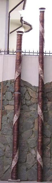 Фасад Отделка декор труб отопления