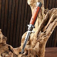 Нож складной полуавтоматический, ручка под дерево, 22,5см, клинок 9,5см