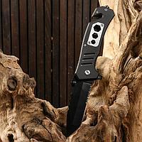 Нож складной полуавтоматический, со стропорезом 20см, клинок 8,3см