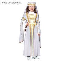Костюм для лезгинки, для девочки: головной убор, платье, р-р 36, рост 146 см, цвет белый