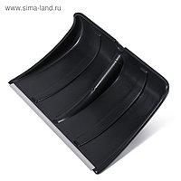 Ковш лопаты пластиковый, 365 × 480 мм, с алюминиевой планкой, тулейка 32 мм