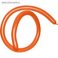 Шар для моделирования 260, стандарт, пастель, оранжевый, набор 100 шт.