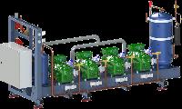 Холодильные многокомпрессорные агрегаты с выносным воздушным конденсатором на базе поршневых компрессоров
