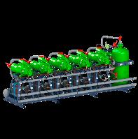 Холодильные многокомпрессорные агрегаты с выносным воздушным конденсатором на базе винтовых компрессоров