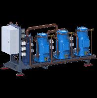 Холодильные многокомпрессорные агрегаты с выносным воздушным конденсатором на базе спиральных компрессоров