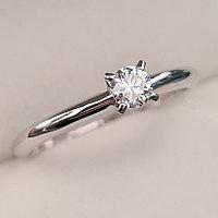 Золотое кольцо с бриллиантами 0.14Сt I1/H, фото 1
