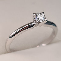 Золотое кольцо с бриллиантами 0.16Сt SI2/J, фото 1