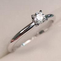 Золотое кольцо с бриллиантами 0.16Сt VVS2/I, фото 1