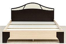 Кровать двуспальная, модульной системы Лагуна 5, Дуб Млечный, СВ Мебель (Россия), фото 3