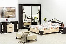 Кровать двуспальная, модульной системы Лагуна 5, Дуб Млечный, СВ Мебель (Россия), фото 2