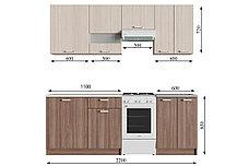 Комплект мебели для кухни Розалия 1700, Шимо темный/Ясень шимо светлый Шимо светлый/Шимо темный, СВ, фото 2