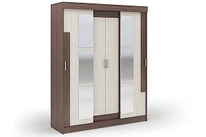 Шкаф для одежды 4Д Фея, Шимо темный Шимо темный, Стендмебель (Россия), фото 2