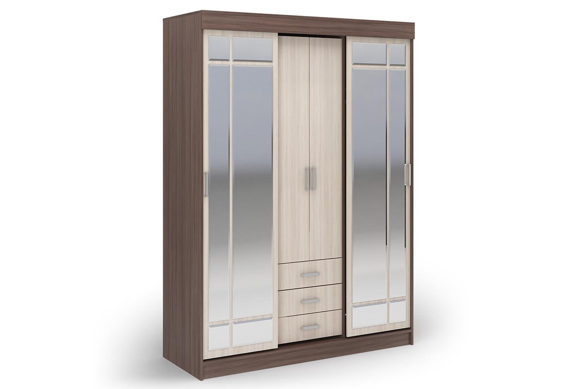 Шкаф для одежды 4Д  Лидер 1К, Шимо светлый, Стендмебель (Россия)