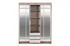 Шкаф для одежды 4Д  Лидер 1К, Шимо светлый, Стендмебель (Россия), фото 3