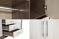 Шкаф для одежды 4Д  Лидер 1К, Шимо светлый, Стендмебель (Россия), фото 2