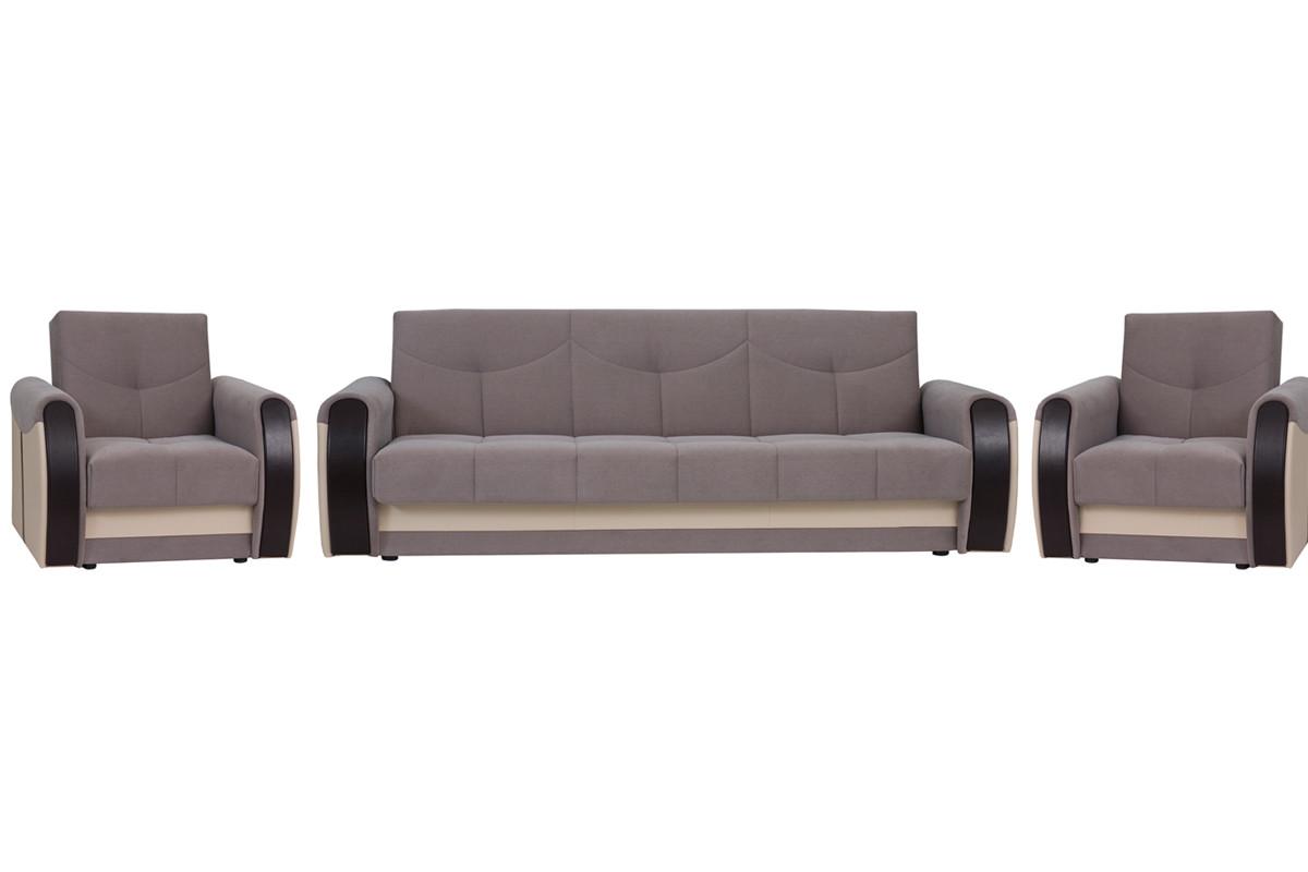 Кресло традиционное раскладной как часть комплекта Сиеста 4, Ника06/EcotexА109/Ecotex213, АСМ Элегант (Россия)