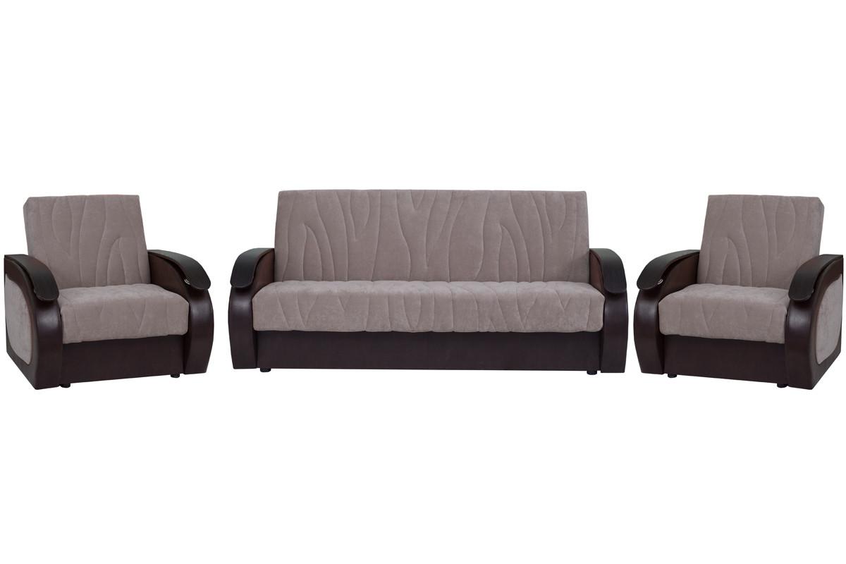 Кресло традиционное как часть комплекта Сиеста 2, Nika07(песоч)/Nika07(песоч)/Ecotex213, АСМ Элегант (Россия)