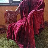 Плед под барашка с косичкой полутораспальный, фото 3