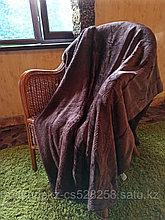 Плед под барашка с косичкой полутораспальный