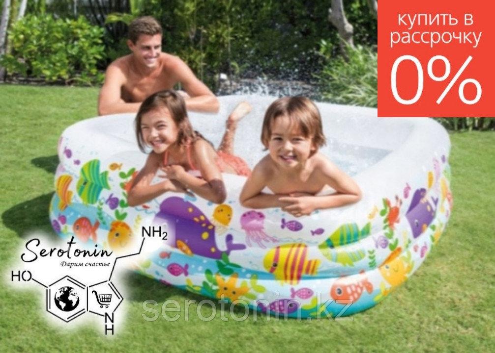 Детский надувной бассейн Intex Аквариум Квадрат 57471
