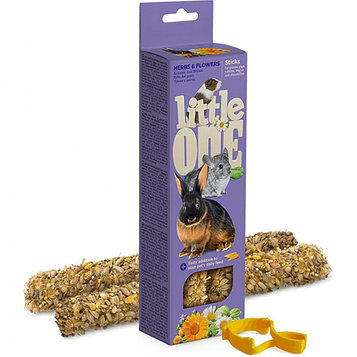 Little one Палочки для крупных грызунов с травами и цветами