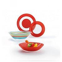 SIMPLY COLORS RED столовый сервиз на 6 персон из 19 предметов, шт