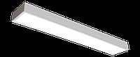 Офисный светодиодный светильник ЛУЧ-2х8 LED 0,6-1А 19 Вт, акустический датчик